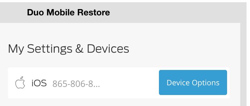 Duo Mobile Restore