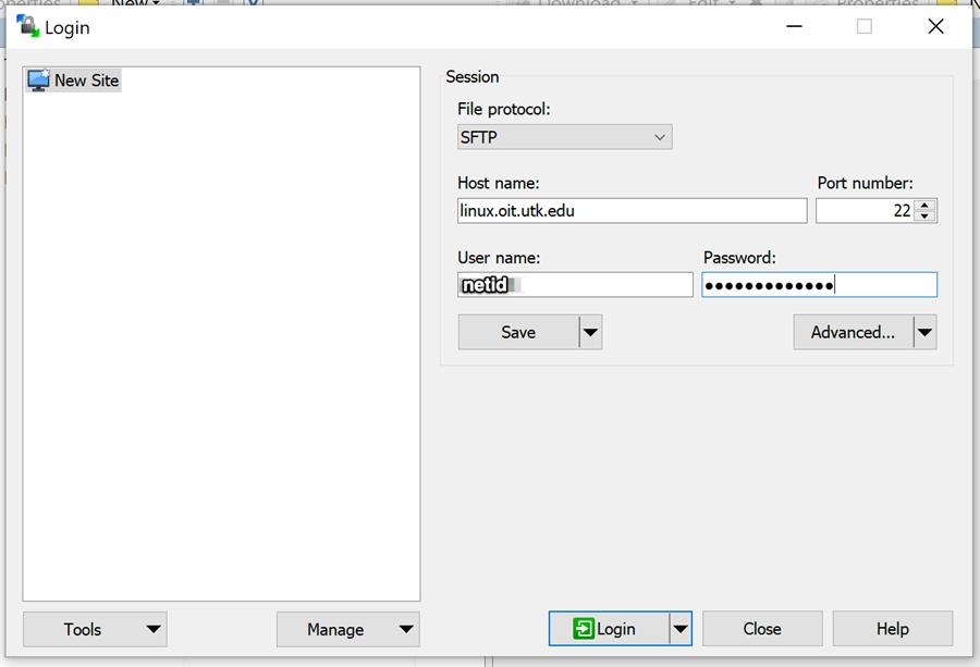 WinSCP Screen Shot