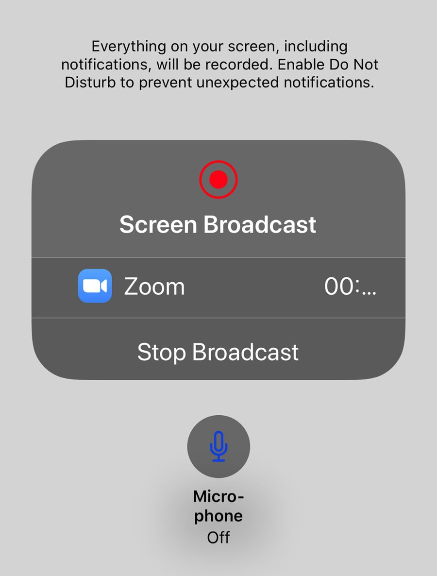 Screen broadcast menu go to what you want to show.